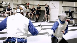 Jonny Bairstow v Danni Wyatt - England Cricket meets Fencing