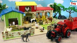 Toy Barn Playset plus Farm Animals Toys For Kids