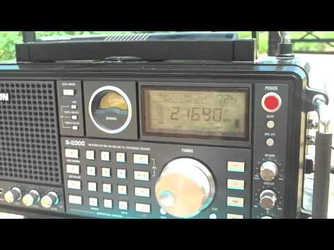 21690 khz Radio France International  in Swahili Language , RFI , Issoudun , France