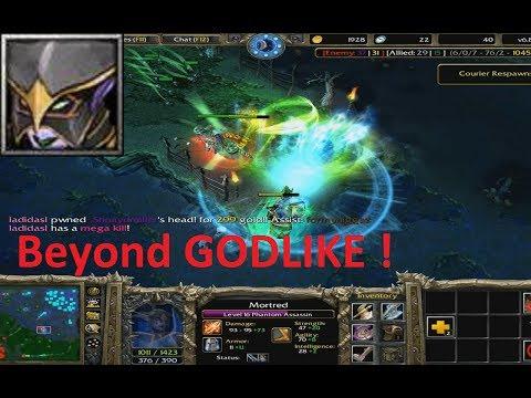 DotA 6.80c - Mortred, Phantom Assassin Beyond GODLIKE !