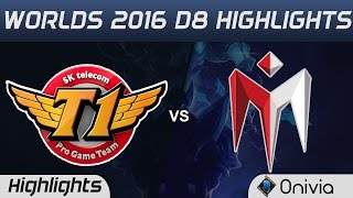 SKT vs IM Highlights Worlds 2016 D8 SK Telecom T1 vs I May