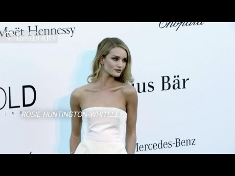 amfAR Gala Red Carpet Cannes 2013 ft. Rosie Huntington-Whiteley, Toni Garrn, Liberty Ross |FashionTV