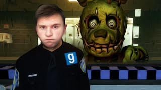 SPRINGTRAP vs SECURITY GUARD | Gmod Sandbox Mini-Game