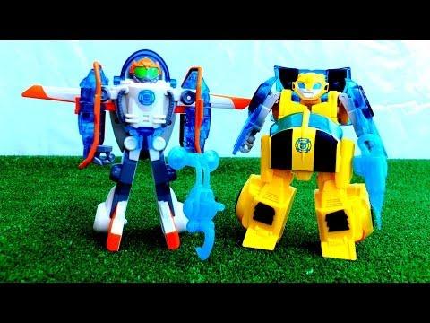 Машинки Hasbro - Трансформеры Прайм и Боты Спасатели (Блэйдз и Бамблби)