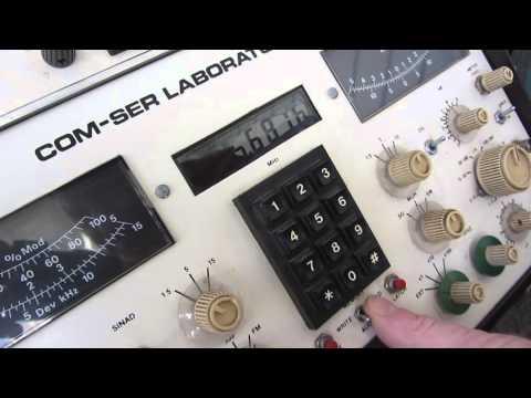Radio Service Monitor Radio Test Equipment Com-Ser Laboratories BR-1001-A