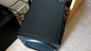 Creative Gigaworks T3 vs Logitech Z-2300 Subwoofer BTest excursion 2