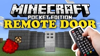 ✔ Remote Door | MCPE Redstone Tutorial