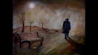Human loneliness, suffering, poverty, homelesness in paintings