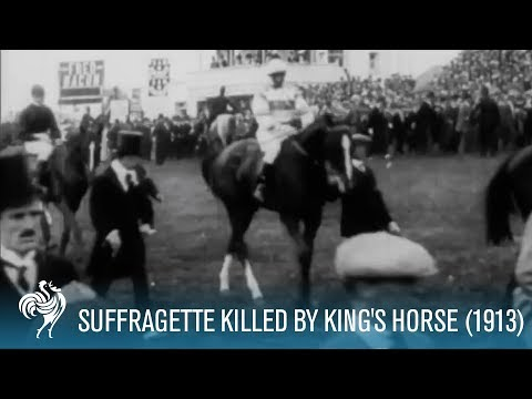 Emily Davison (Suffragette) killed by King's Horse at Derby (1913) [HD]