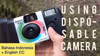 Cara memakai disposable camera // How to use disposable camera