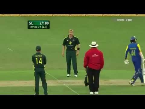 Michael Clarke throws bowl at Watson   Funny Moment