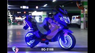 Xe máy điện trẻ em BQ-3188 đẹp, có đèn LED bánh xe