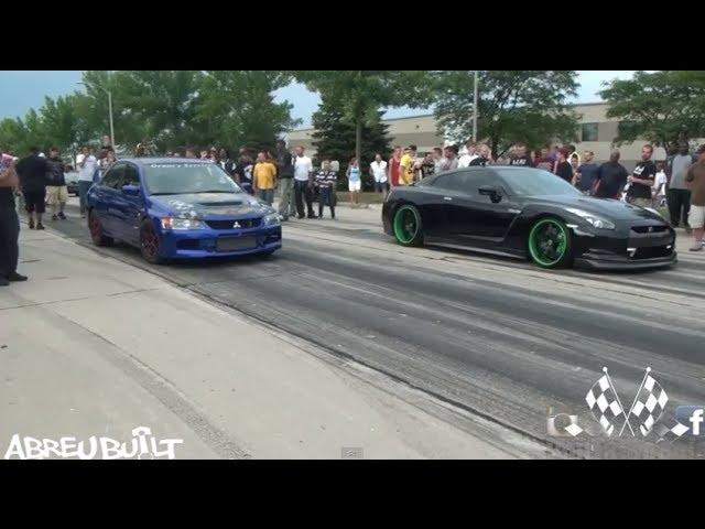 Nissan GTR vs Mitsubishi Evo - YouTube