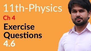 Physics Ch  no 4  Exercise Question 4.6- Physics Ch 4 Work And Energy - FSc Part 1 Pre Medical