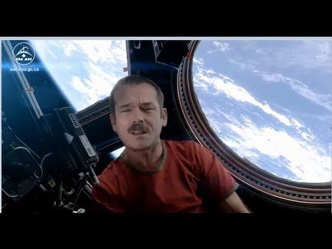Chris Hadfield Space Commander Sings Space Oddity (First Music Video in Space)