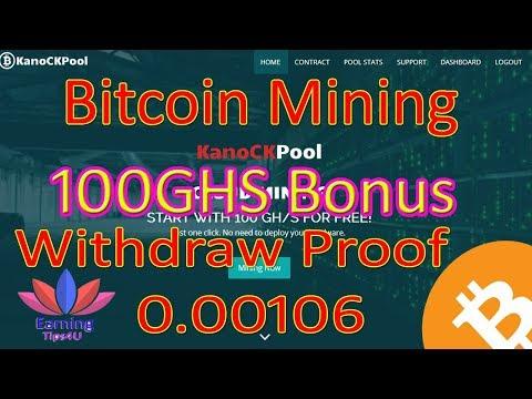 Bitcoin Mining 100Ghs Signup Bonus Payout Proof (In Hindi)