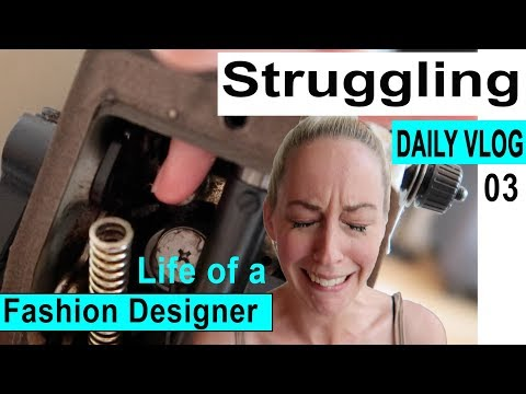 Fashion Designer's Daily Vlog #3! Debo vs Juki (Sewing machine)