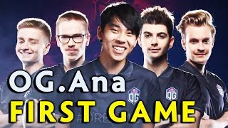 Ana FIRST game in OG after TI8 — WTF 2x RAMPAGE on Battle Cup
