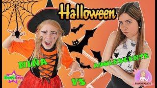 NIÑAS vs ADOLESCENTES en HALLOWEEN | Cosas típicas de niños y adultos en Halloween con Bianki Place