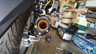 How to adjust GY6 NCY Shocks, Exhaust, NCY Carburetor, Lights 8 of 12