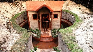 Dig To Build Most  Amazing Underground House And  Underground Swimming Pool In Forest
