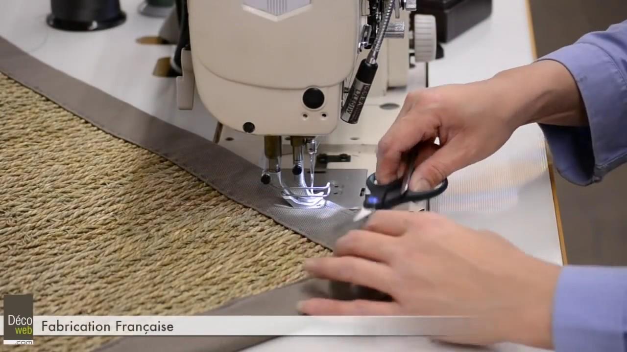 Fabrication Des Tapis Sur Mesure Jonc De Mer Decoweb Com Youtube