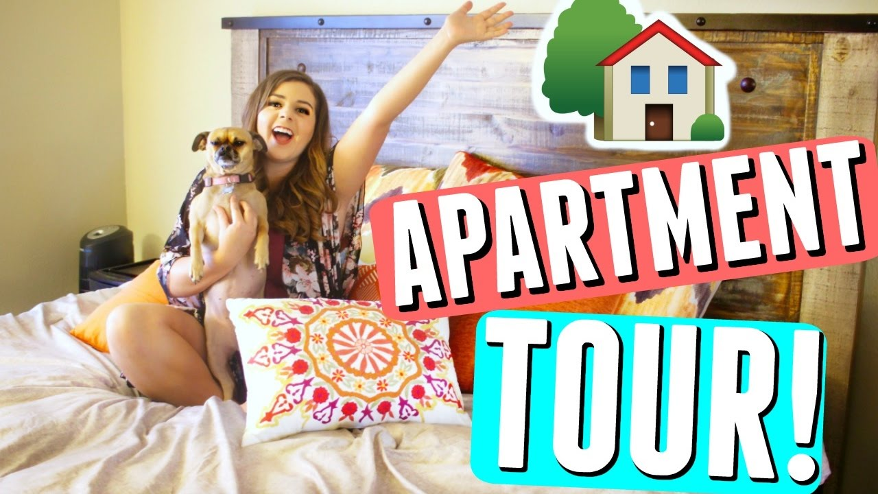 NEW APARTMENT TOUR 2017! Rustic Home Decor + Living With My Boyfriend || California House Tour!