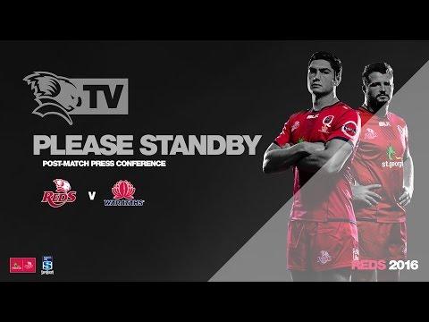 Media Conference: St.George Queensland Reds v Waratahs