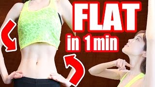 【1 Min Routine】Get a FLAT Belly & Tiny Waist in ONE Week! + My Diet Secrets くびれ!簡単エクササイズ