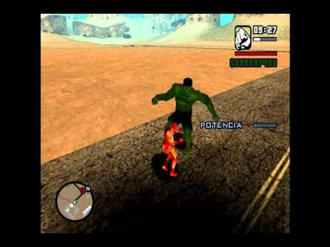 GTA SA *  THE INCREDIBLE HULK CLEO MOD