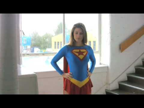 Superheroine Supergirl in the Forger Video
