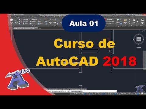 Curso de AutoCAD 2018 - Aula 01/45 - Do Básico ao Avançado - Autocriativo