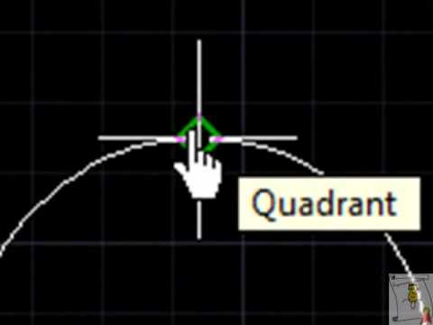 Autocad - 35. [Object Snap] Nodos y Cuadrantes