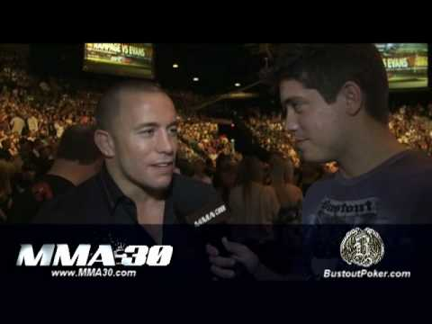 MMA:30 Georges St. Pierre talks Koscheck, A. Silva, and UFC fans Video
