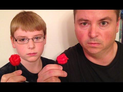 12-yr-old eats whole Carolina Reaper (Worlds Hottest Pepper) : Hot Pepper Challenge