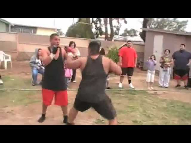 Jose Vs Fuji         BACKYARD MMA FIGHTING