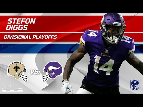 Stefon Diggs Highlights w/ Game-Winning TD! | Saints vs. Vikings | Divisional Round Player HLs