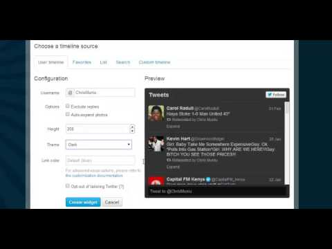 How To Create a Twitter Widget For Your Website