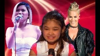 "download lagu Angelica Hale, Pink And Katrina Velarde -""girl On Fire"" gratis"