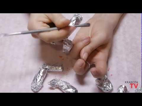 Видео как снять нарощенные ресницы маслом