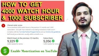 Its All about to monetization Youtube channel | How to get 4000 hour watch time and 1000 Subscribers