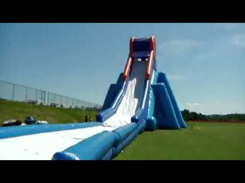 Slidezilla Inflatable Jumping Castle Slide Youtube
