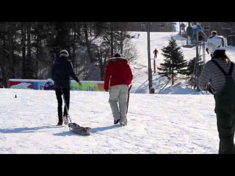 Ca Commence Bien : Andy Learn how to snowskate (V TV Network)