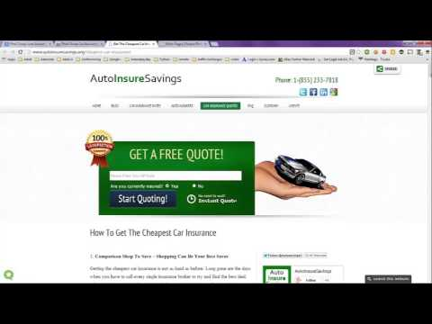 Find Cheap Auto Insurance Quotes -- How I Find Them step by step