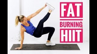 FAT BURNING HIIT Workout // No Equipment + No Repeats!