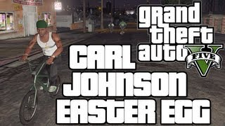 Grand Theft Auto V - CJ EASTER EGG! (CJ, Big Smoke & Sweet Easter Egg)
