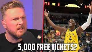 Pat McAfee Gave Away 5,000 Free Pacers Tickets..