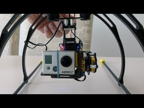 2-Axis Gopro Brushless Gimbal for Quadcopter - Initial Testing (GoodLuckSell)