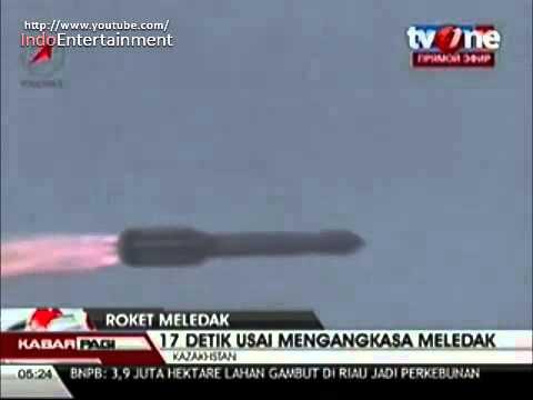 Roket Rusia Meledak 17 Detik setelah diluncurkan dari Baikonur, Kazakhstan
