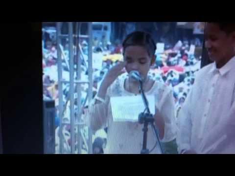 Glyzelle Palomar asks Pope Francis a question